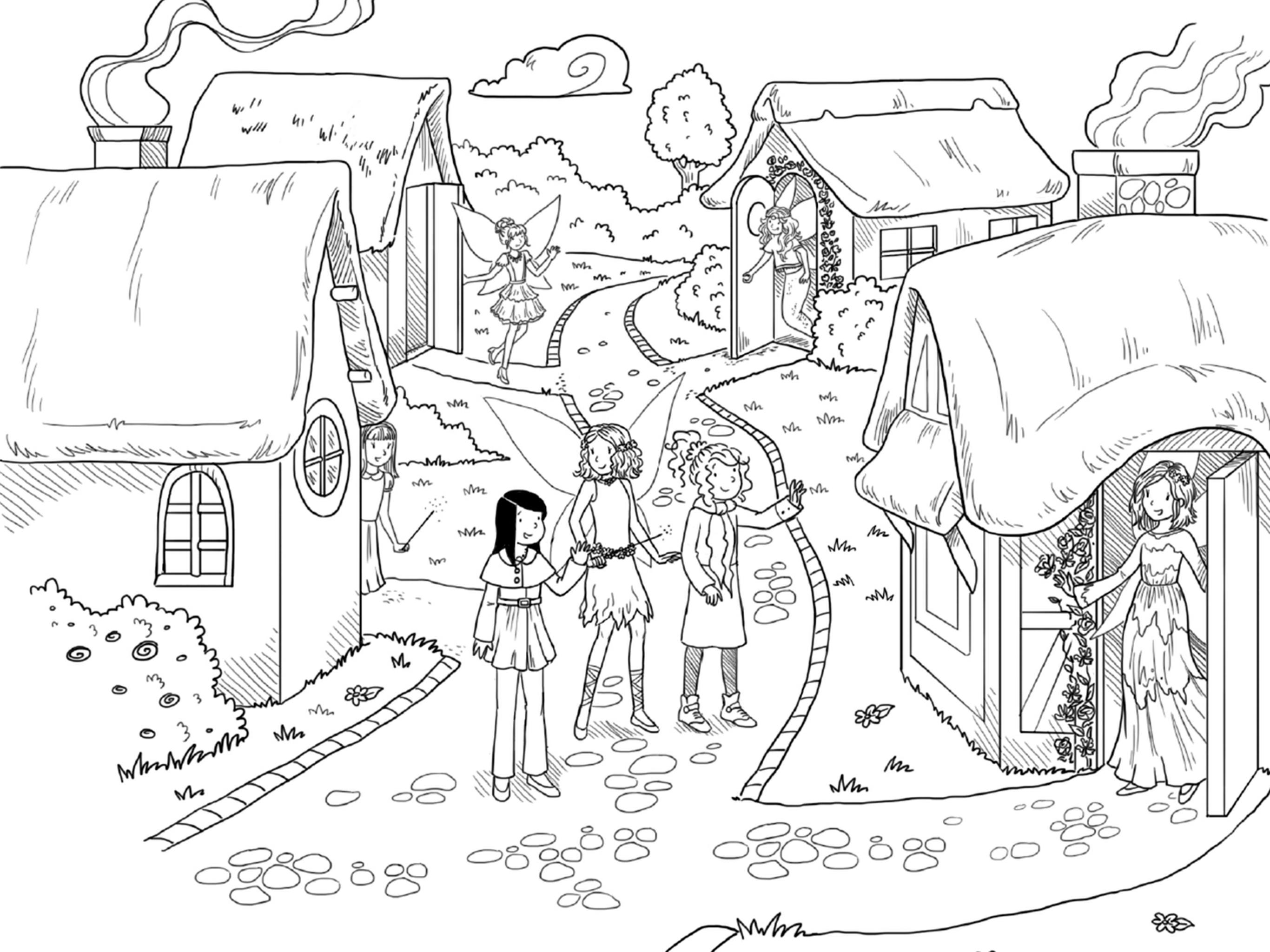 2732x2048 Rainbow Magic Julia The Sleeping Beauty Fairy Coloring Page