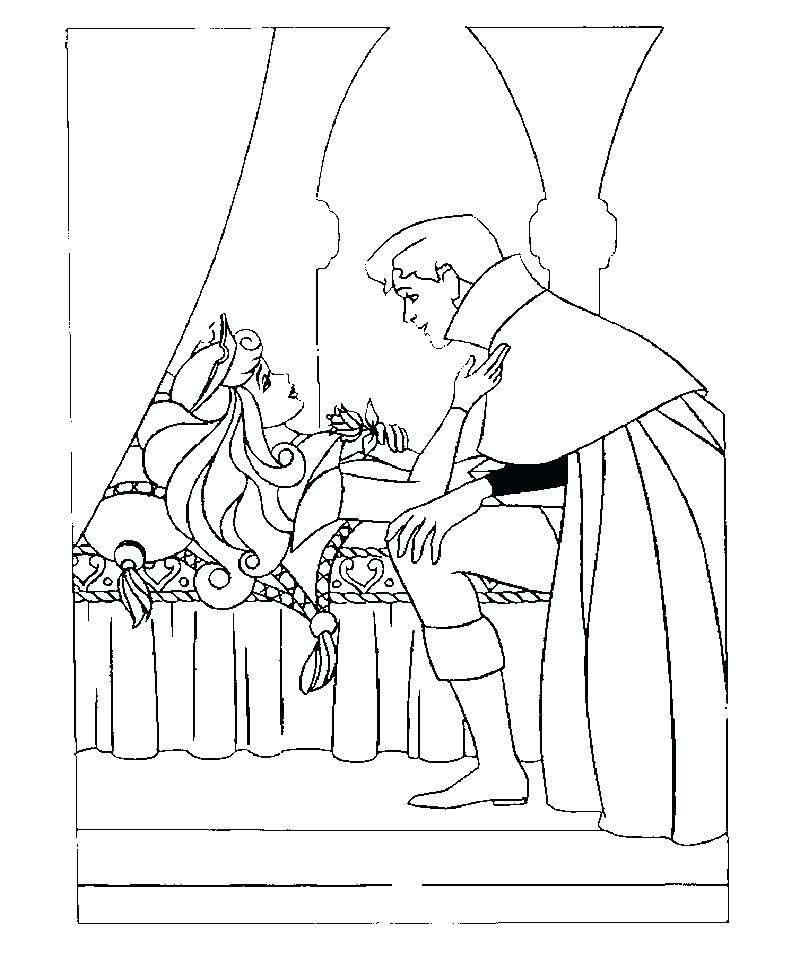 809x960 Sleeping Beauty Coloring Pages Coloring Sleeping Beauty Sleeping