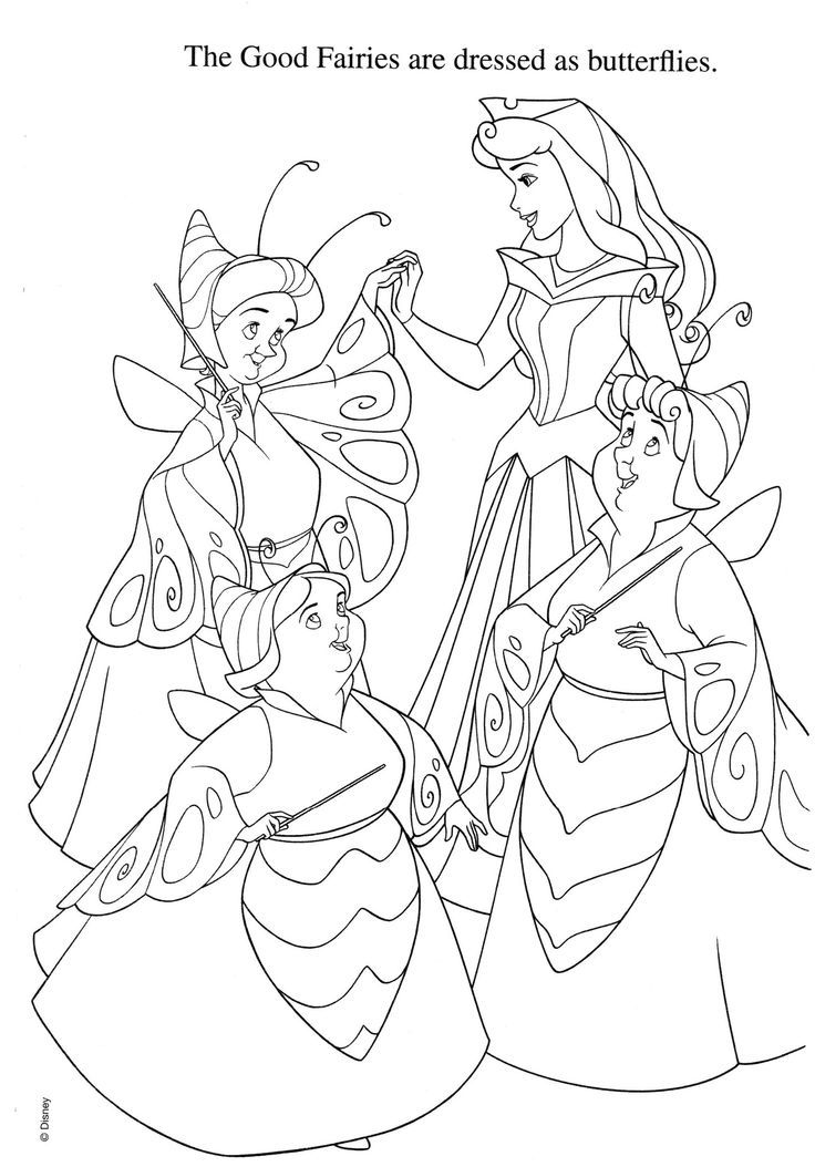 736x1054 Best Sleeping Beauty Images On Coloring Books