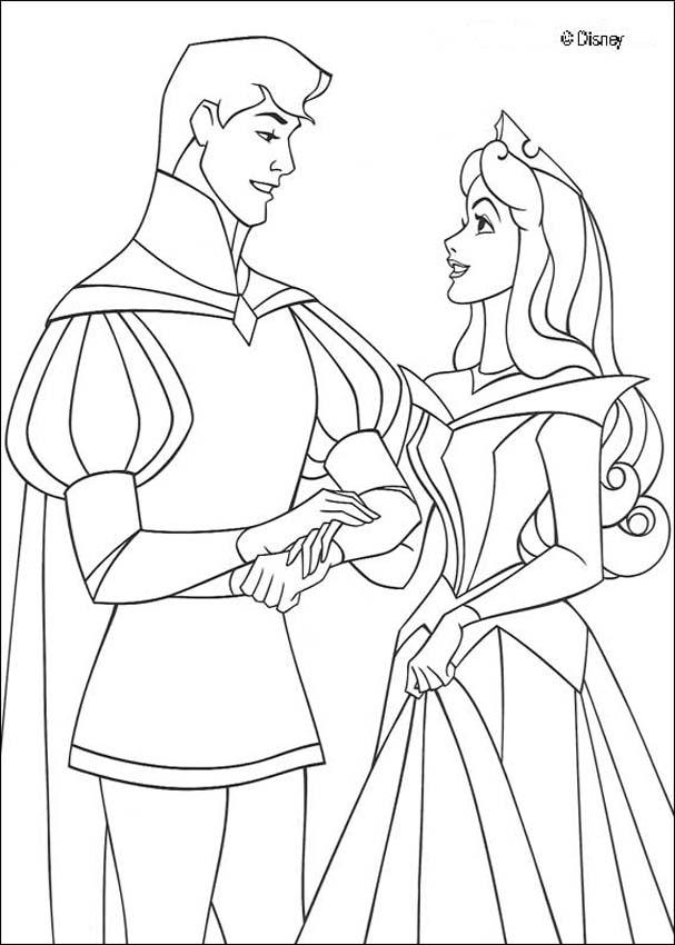 607x850 Sleeping Beauty Coloring Pages