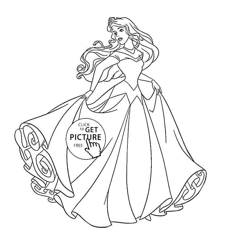736x780 Sleeping Beauty Coloring Pages
