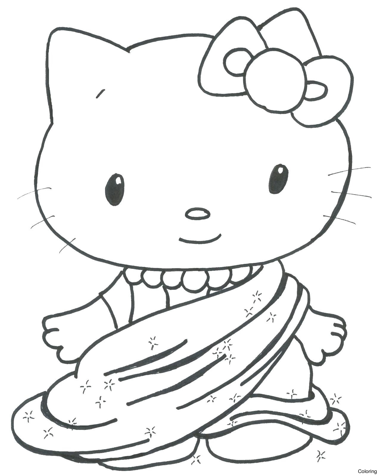 1276x1600 Sleeping Cat Coloring Page Source Cute Kitten Pages