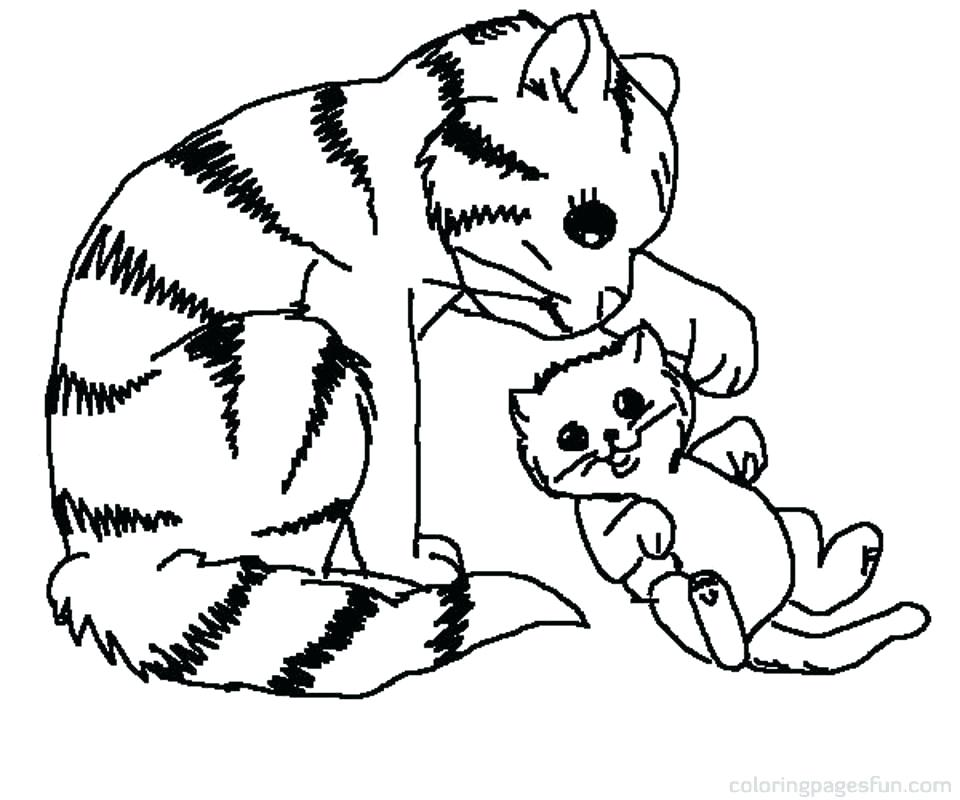 960x800 Unique Kitty Cat Coloring Pages And Very Cute Kitty Cat Sleeping
