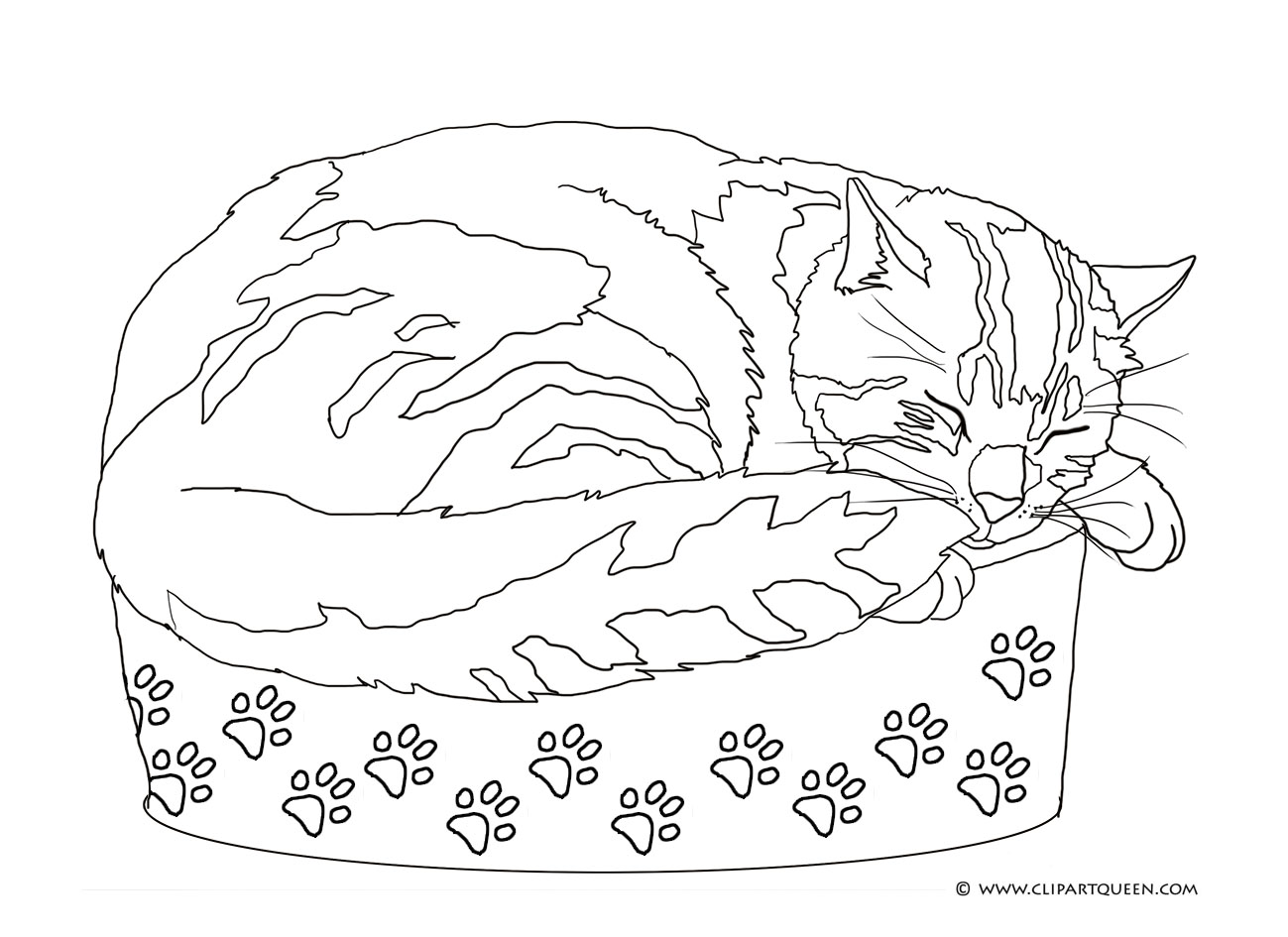 1299x945 Cat Coloring Pages