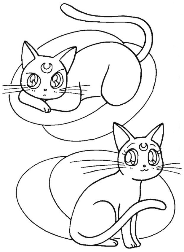 621x850 Cat In Boot Sleeping Coloring Page