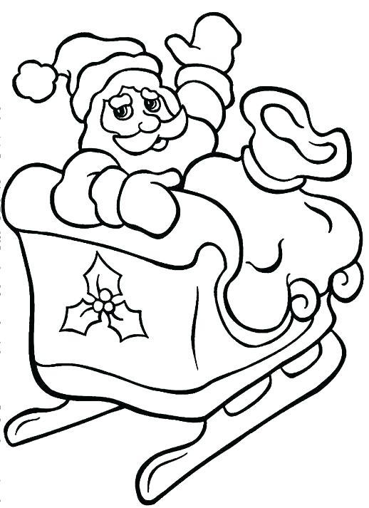 Sleigh And Reindeer Coloring Pages at GetDrawings | Free ...