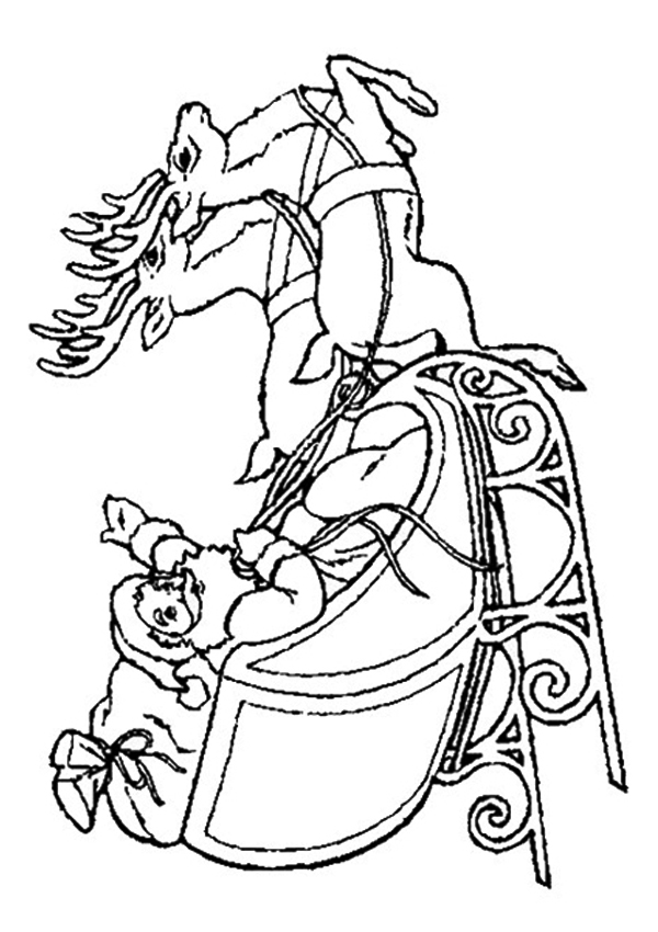 600x850 Free Coloring Pages Of Santa In His Sleigh, Santa In Sleigh