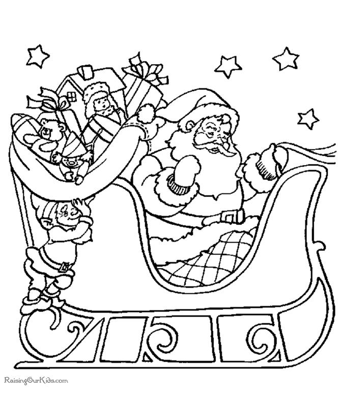 670x820 Santa And His Sleigh Coloring Pages Santa And His Sleigh Coloring
