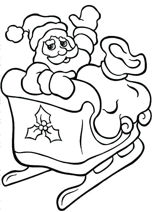 518x713 Santa Sleigh Coloring Page Coloring Pages Coloring Pages Free