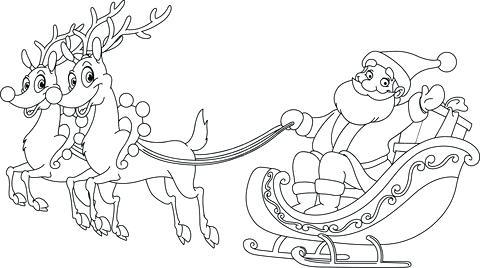 480x268 Santa Sleigh Coloring Page Free Printable Santa Sleigh Coloring