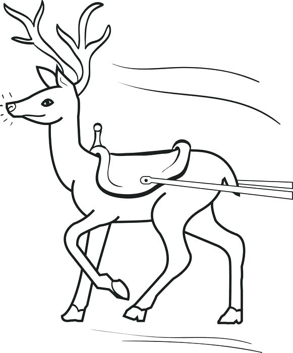 581x700 Sled Coloring Pages Sleigh Coloring Page Free Printable Reindeer