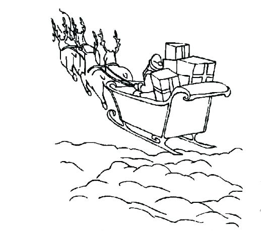 518x459 Sleigh Coloring Page Coloring Sheets Sleigh Coloring Pages One