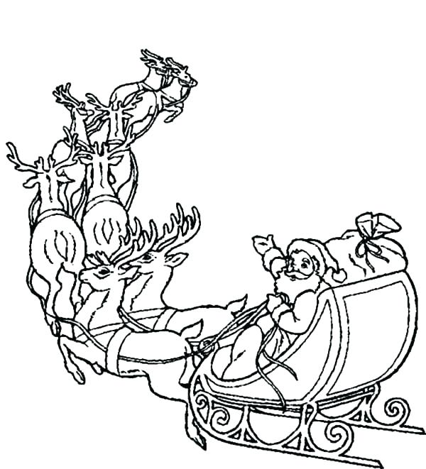 600x661 Sleigh Coloring Page Ride His Famous Sleigh Coloring Pages Sleigh