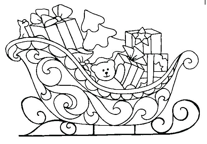 666x465 Clipart Sleight Coloring Pages Santa Sleigh Coloring Page Golfclix