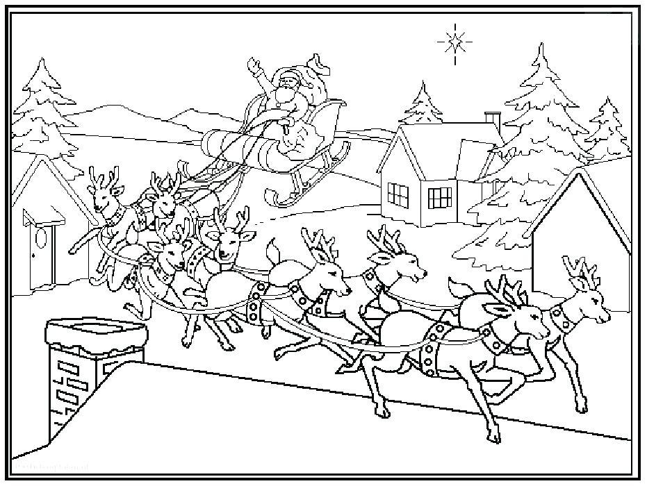 931x700 Santa Claus On His Sleigh Coloring Pages Devon Creamteas