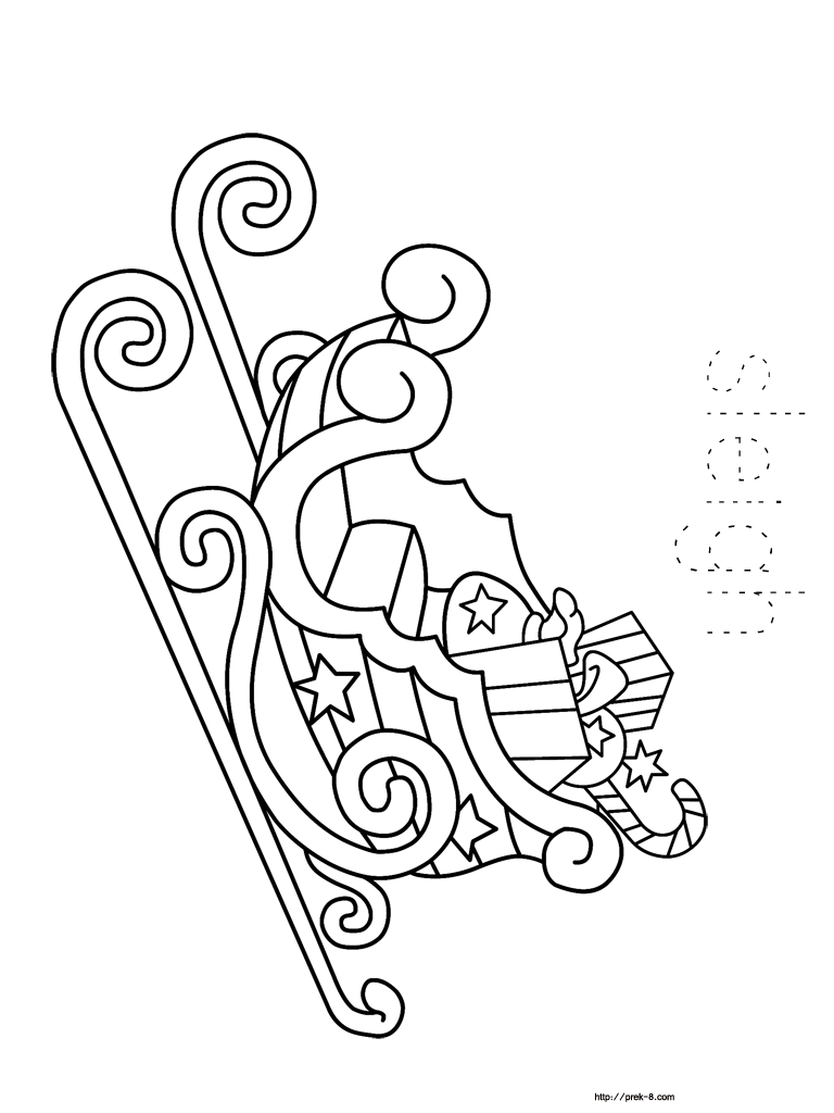 768x1024 Christmas Sleigh Coloring Pages Christmas Coloring Book For Kids