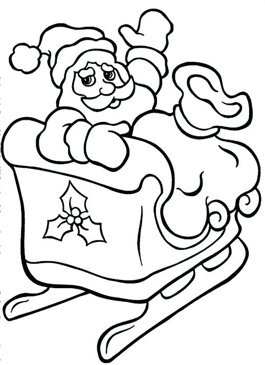 518x713 Santa Sleigh Coloring Page Murs