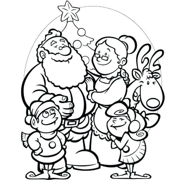 600x600 Coloring Clause A Tradition Drawing And Simple Sleigh Coloring