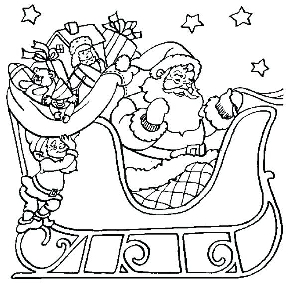 575x575 Sleigh Coloring Page Sleigh Coloring Page Sleigh Ride Coloring