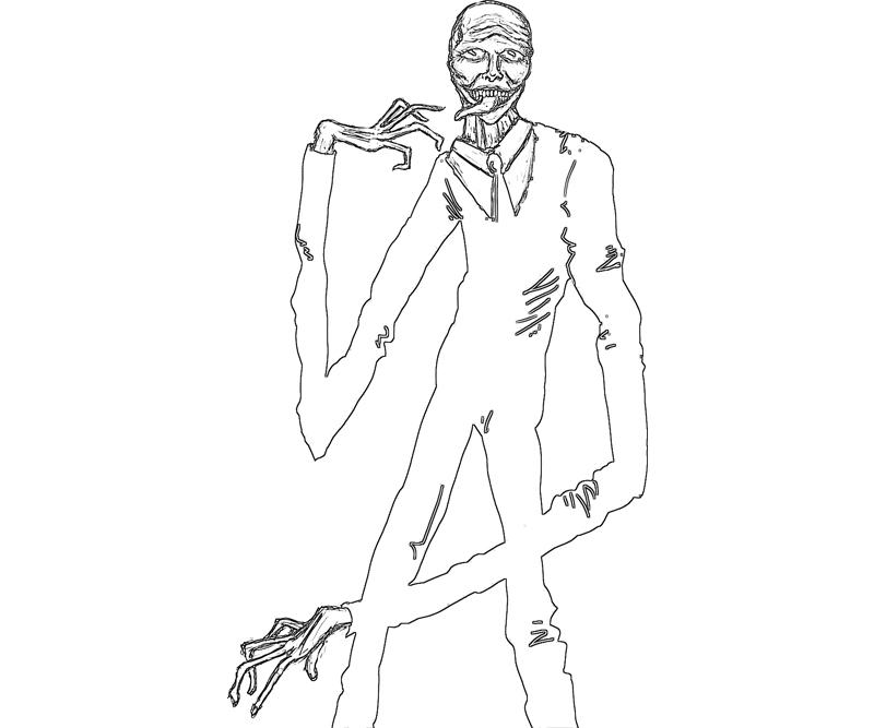 800x667 Slender Man Coloring Pages
