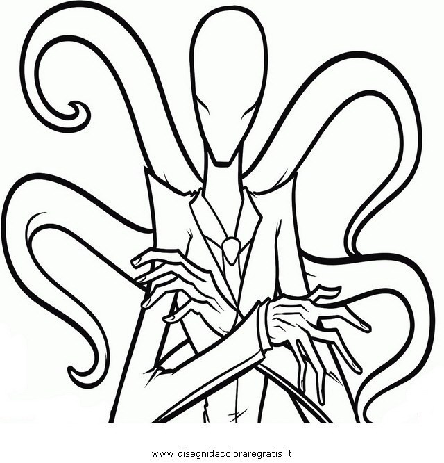 640x666 Slender Man Coloring Pages Halloween Coloring Pages Online Ideas