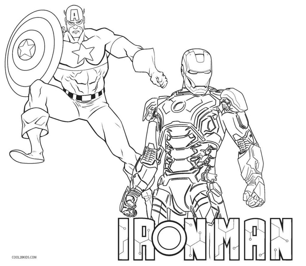 1024x891 Free Printable Iron Man Coloring Pages For Kids Within
