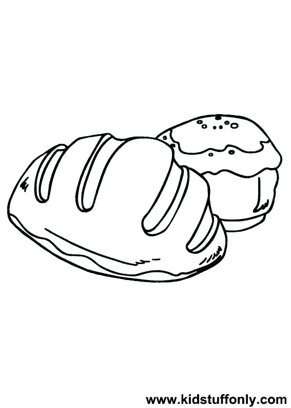 567x794 Bread Coloring Page Click To See Printable Version Slices
