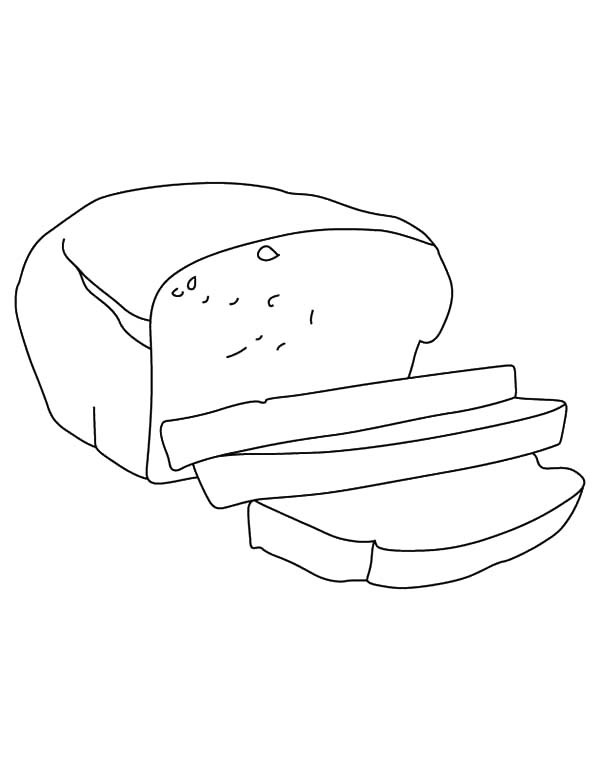 600x771 Bread Slice Outline Coloring Pages Best Place To Color