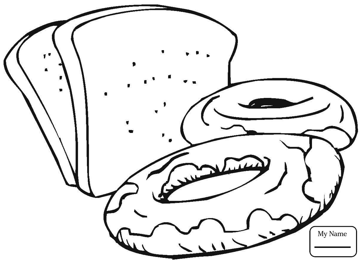 1224x883 Coloring Pages Bread Slices Of Bread Coloring Page Free Printable