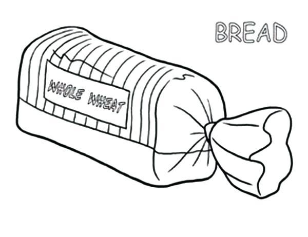 600x462 Coloring Pages Bread Bread Coloring Pages Bread In Package