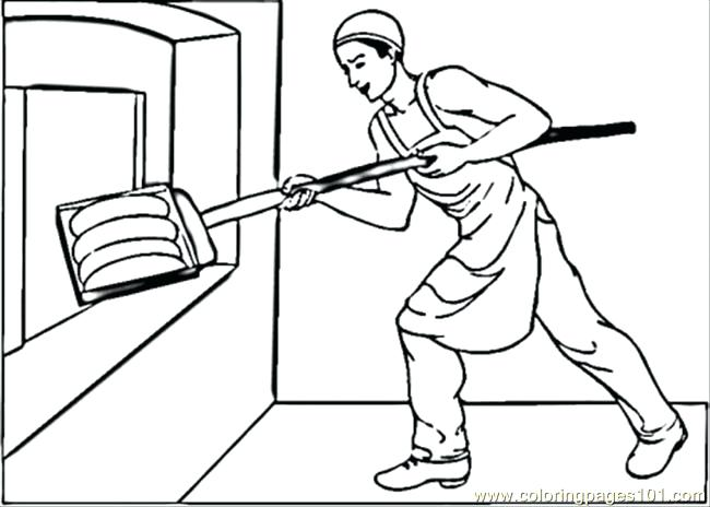 650x464 Putting Bread In Oven Coloring Page Free Profession Coloring