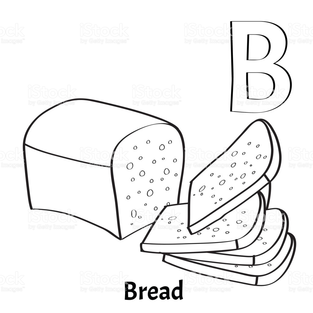 1024x1024 Rare Slice Of Bread Coloring Page Pages Fun