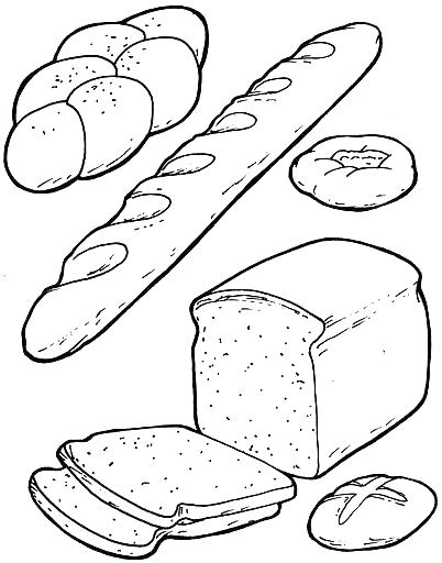 402x512 Bread Coloring Page