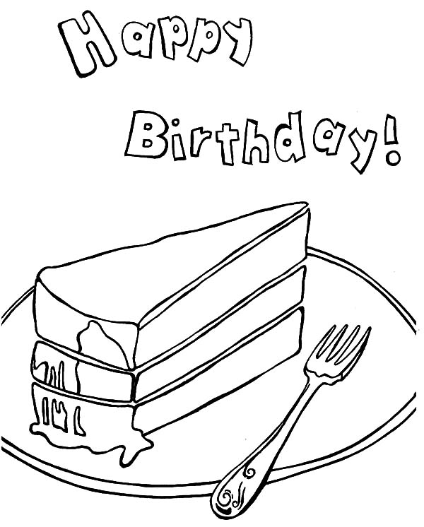 600x746 A Piece Of Chocolate Cake Coloring Pages