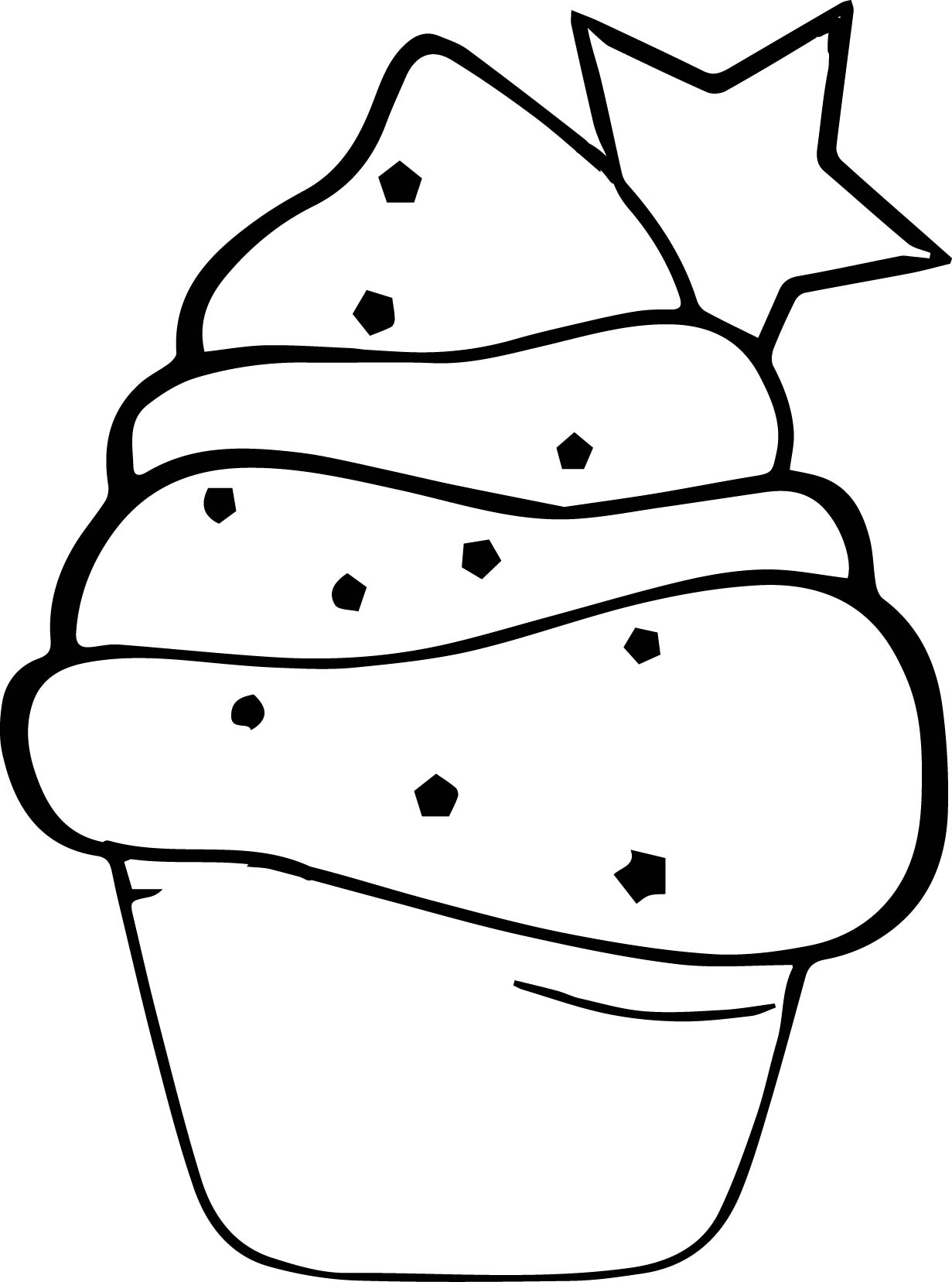 1231x1657 Cake Coloring Pages Cute Cupcake