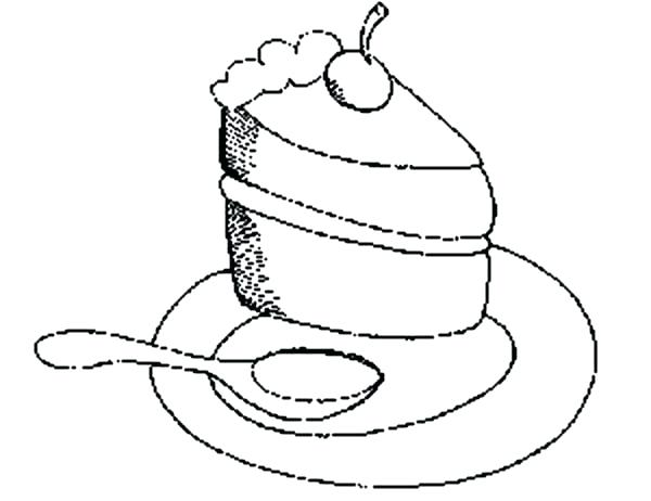 600x462 Coloring Pages For Adults Flowers Eating Cake Slice With Spoon