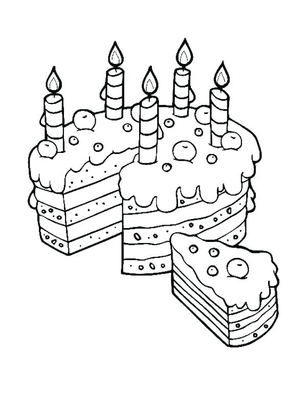 600x776 Mom Coloring Pages Birthday Cake Slice For Mom Coloring Pages Cat
