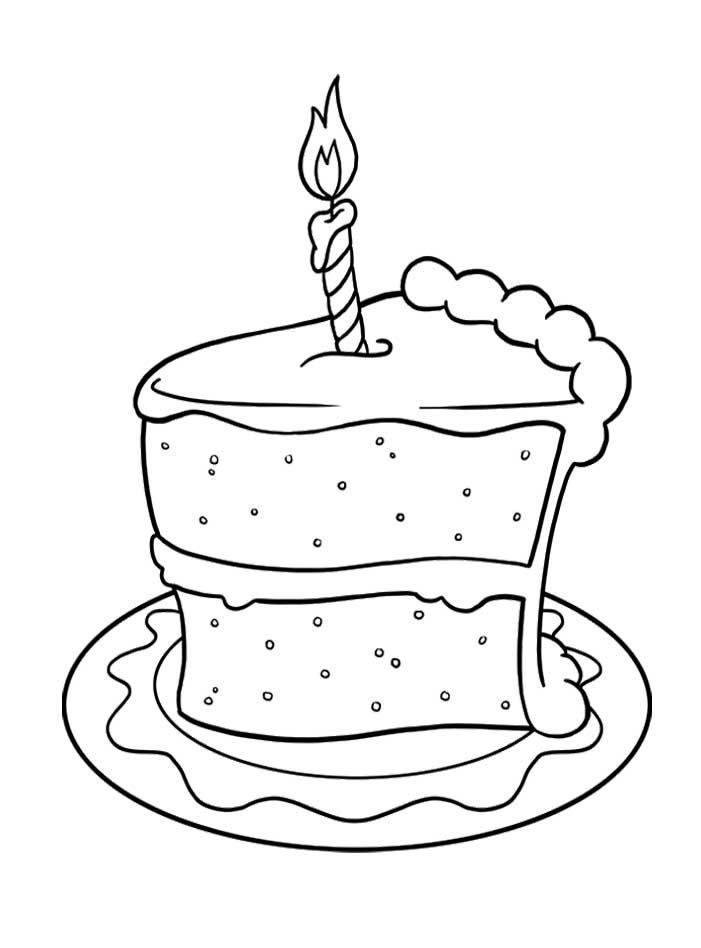 701x948 Pictures Slice Of Cake Birthday Coloring Pages Spanish This