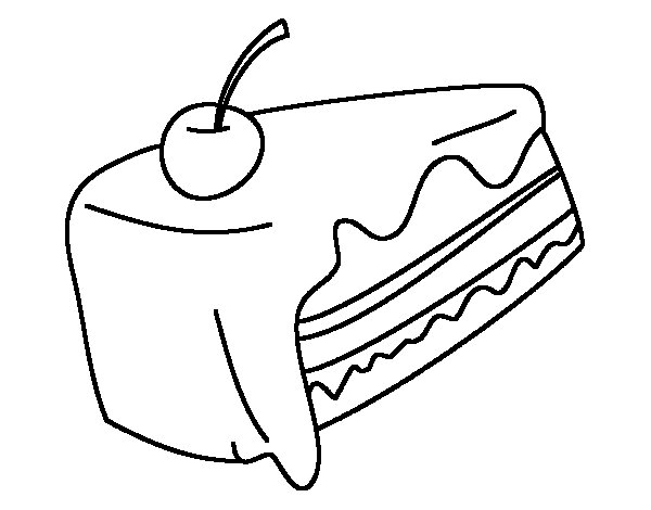 600x470 Piece Of Cake Coloring Page
