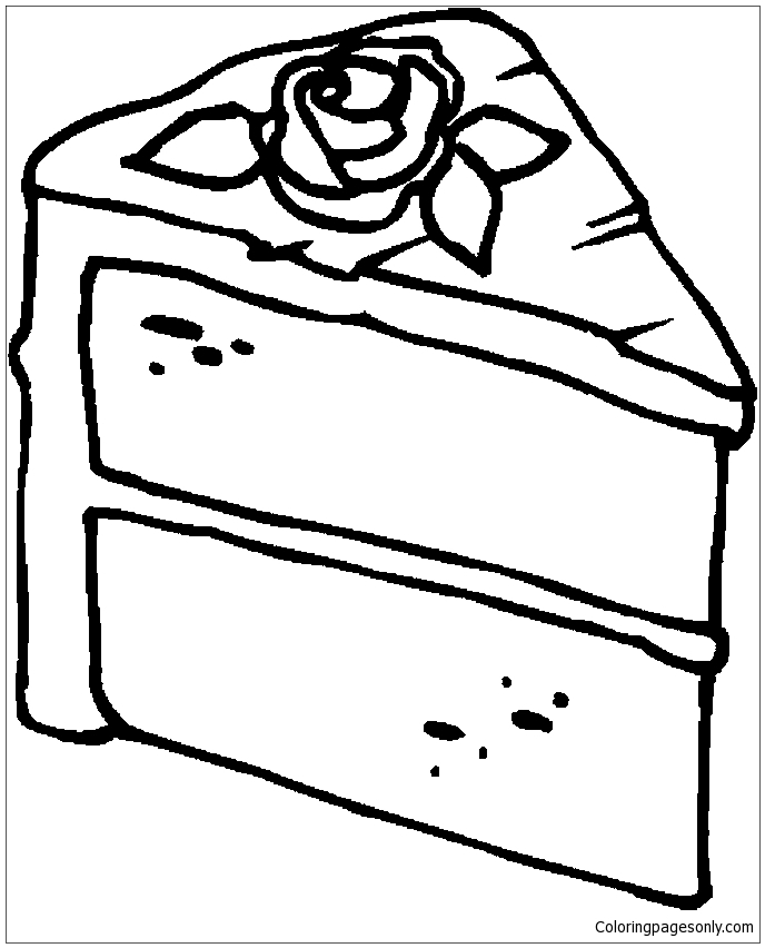 688x852 Slice Of Cake Coloring Page