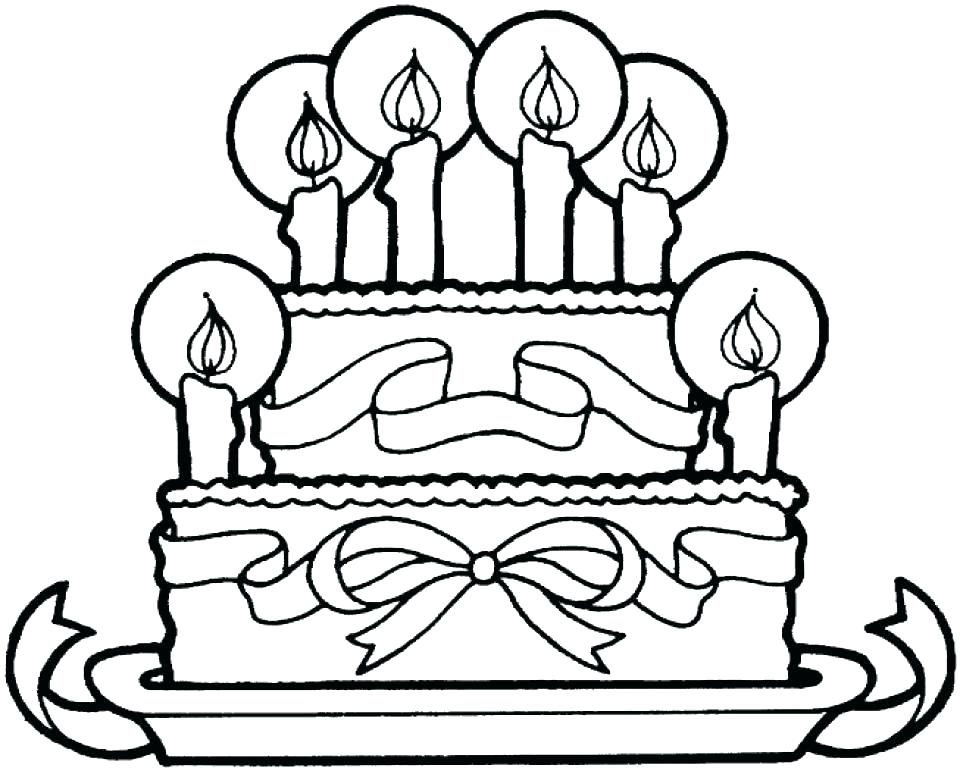 960x771 Cake Coloring Pages