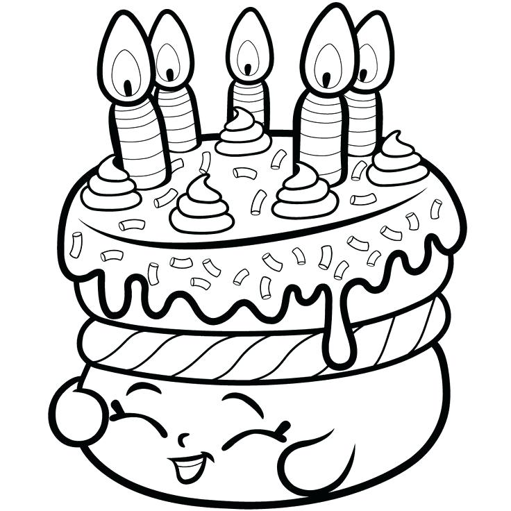 736x736 Cake Coloring Book Cake Wishes Season From Coloring Pages
