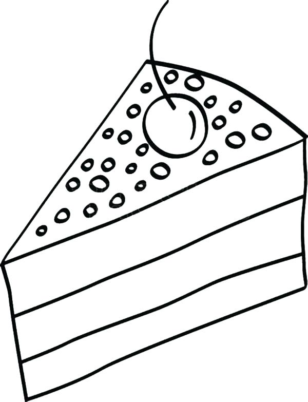 600x783 Cake Coloring Cake Coloring Sheet Cake Coloring Pages With Cherry