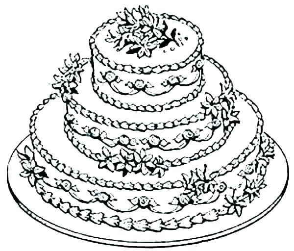 600x512 Cake Coloring Page Simple Birthday Cake Coloring Pages Image