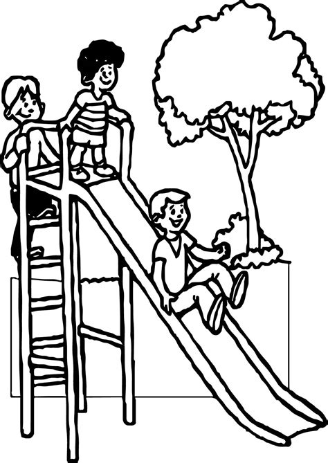 474x669 Summer Slide Kids Coloring Page Wecoloringpage, Colouring Pictures