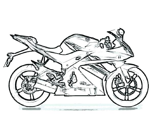 600x464 Harley Motorcycle Coloring Pages To Print Printable Coloring
