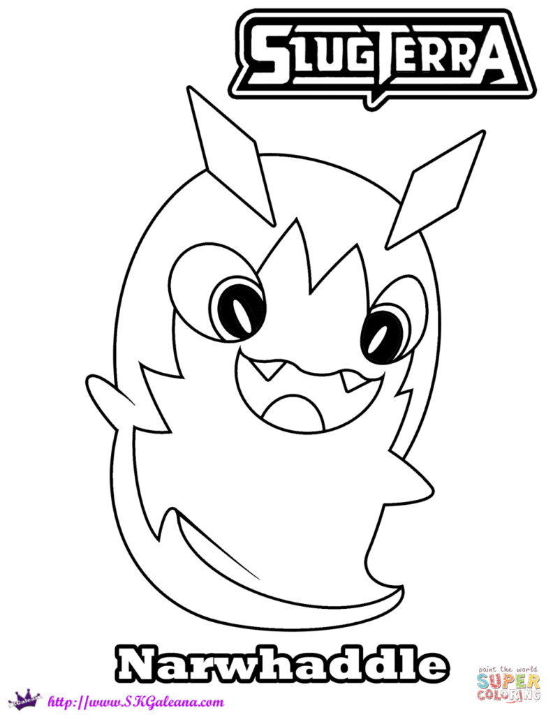 792x1024 Slugterra Coloring Pages Free Narwhaddle Get Bubbles