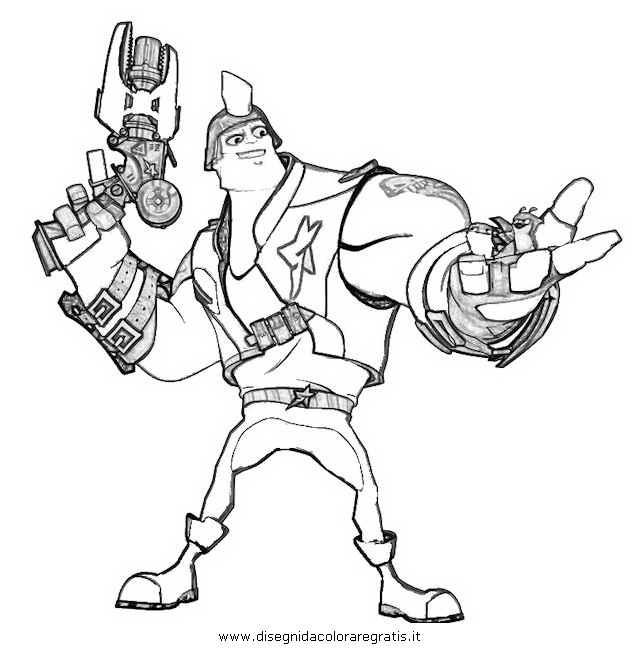 640x649 Slugterra Kord Zane Coloring Pages