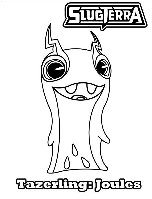 Slugterra Burpy Coloring Pages