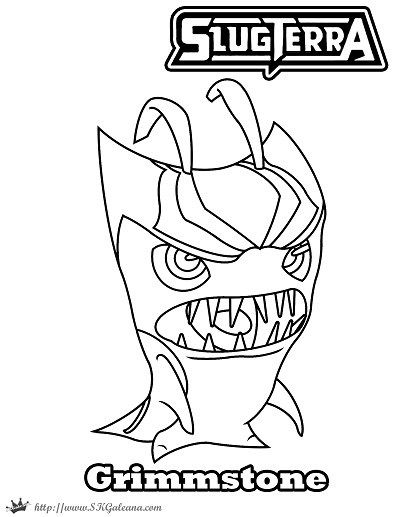400x517 Free Halloween Coloring Page Featuring Grimmstone From Slugterra